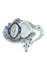 Goldscheider of Vienna Miraculous Medal Rosary Box with Rosary
