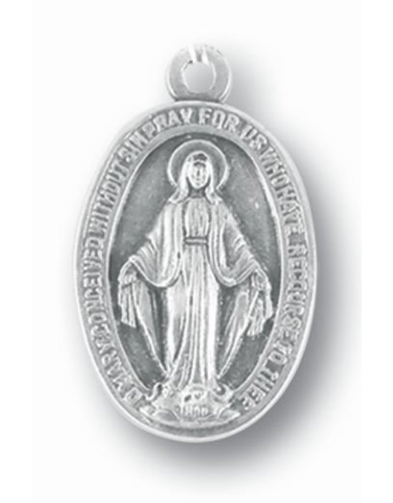"""1"""" Miraculous Medal Oxidized"""
