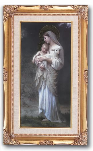 "WJ Hirten Bouguereau Divine Innocence 14"" x 24"" Framed Picture"
