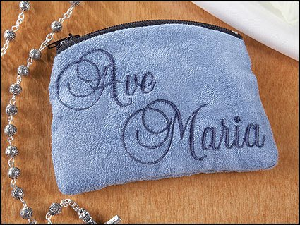 Christian Brands Ave Maria Cloth Rosary Case