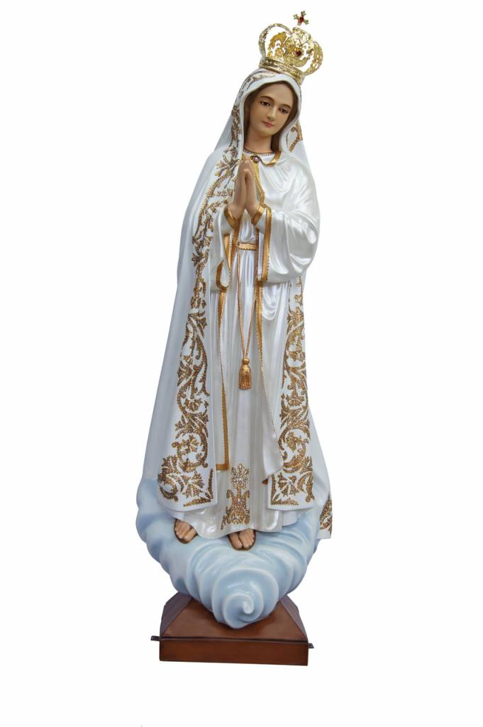 """Fiat Imports 48"""" Our Lady of Fatima Statue (Fancy)"""