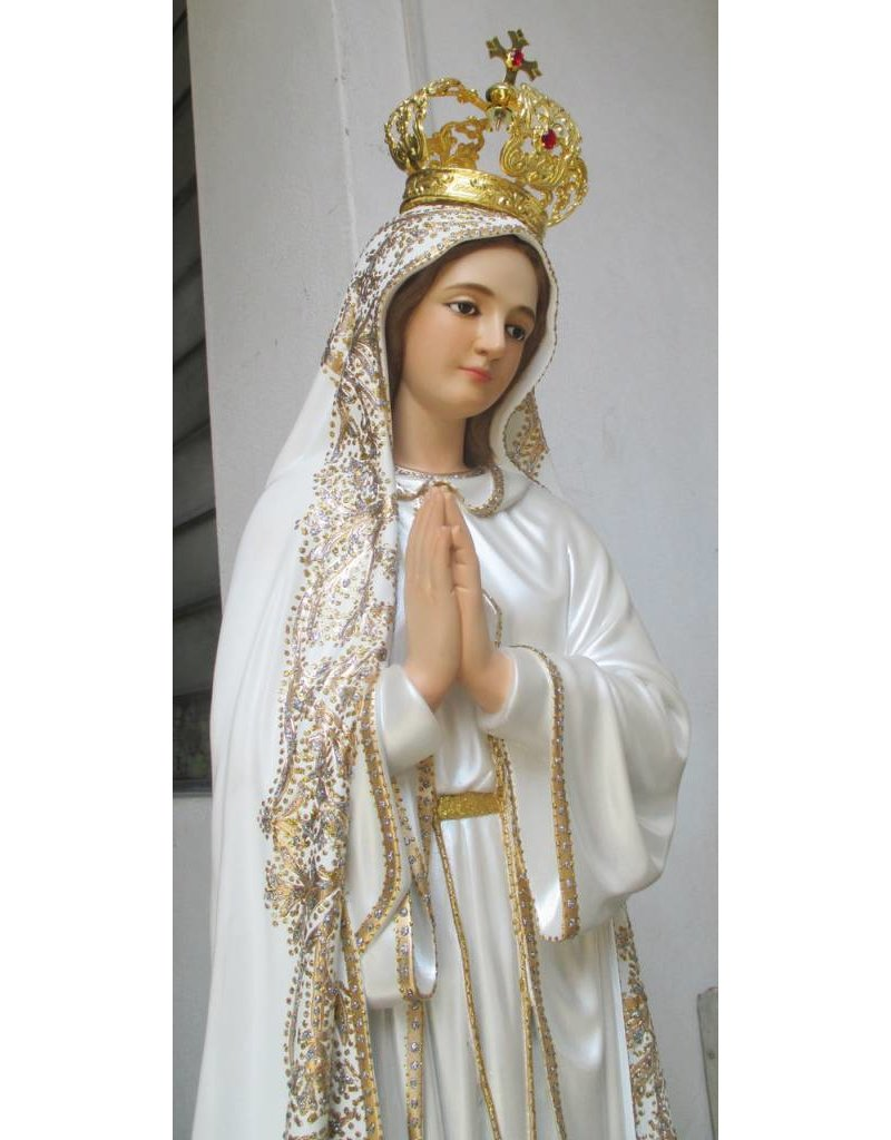 "Fiat Imports 48"" Our Lady of Fatima Statue (Fancy)"