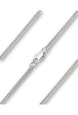 """16"""" Rhodium Lite Curb Chain"""