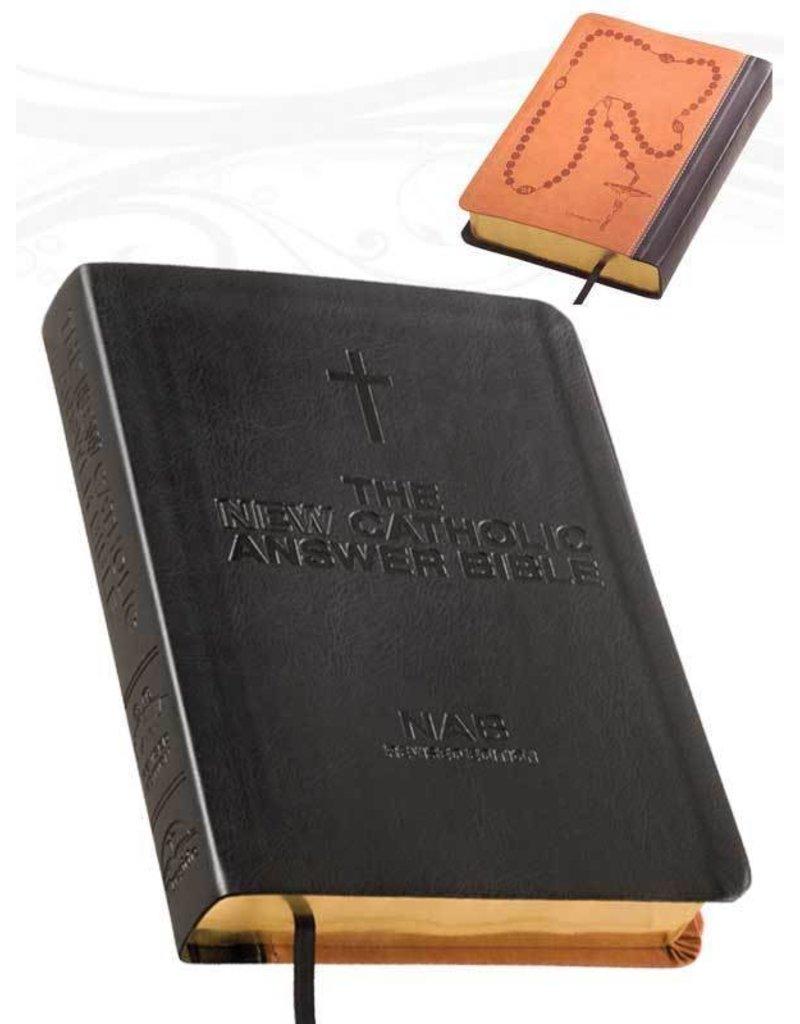 Fireside Catholic Publishing The NEW Catholic Answer Bible NABRE (Black) Large Print
