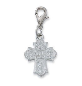 McVan 4 Way Clippable Charm Silver Tone Rhodium Finish