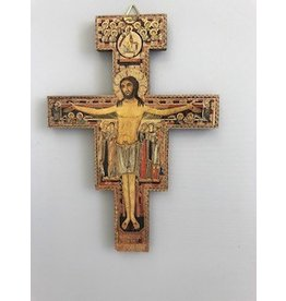 "Religious Art Inc 5.5"" San Damian Crucifix Wood (NB)"