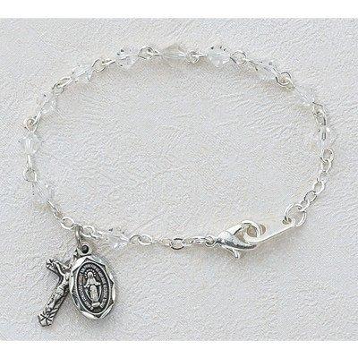 McVan Sterling Silver 4mm Crystal Bracelet/Boxed