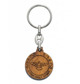 McVan Olive Wood Seven Gifts of the Holy Spirit Key Chain