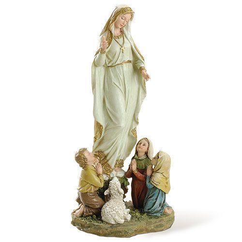 """Joseph's Studio 12"""" Our Lady of Fatima with Children Statue"""