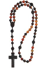 Sine Cera Agate and Jujube Wood Rosary 8mm