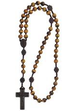 Sine Cera Tiger Eye and Jujube Wood Rosary
