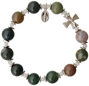 Sine Cera Multicolor Onyx Rosary Bracelet (10mm)