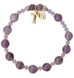 Sine Cera Amethyst Rosary Bracelet (8mm)