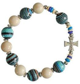 Sine Cera Blue Multicolor Rosary Bracelet
