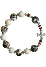 Sine Cera Brown Multicolor Rosary Bracelet