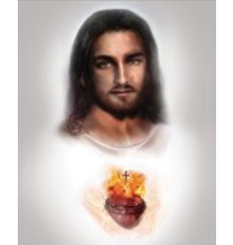Thomas Valle 12 X 16 Sacred Heart of Jesus Print