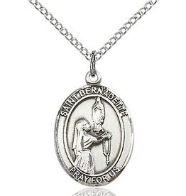 """Bliss Manufacturing Sterling Silver Bernadette Medal With 18"""" Chain"""