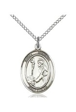 "Bliss Manufacturing Sterling Silver St. Dominic de Guzman Medal With 18"" Chain"