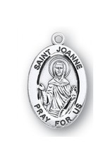 """HMH Religious Sterling Silver St. Joanne With 18"""" Chain Neclace"""
