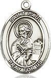 "Bliss Manufacturing Sterling Silver St. Paul Medal With 20"" Chain"