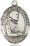 "Bliss Manufacturing Sterling Silver St. Pio of Pietrelcina Medal With 20"" Chain"