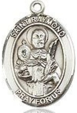 "Bliss Manufacturing Sterling Silver St. Raymond Nonnatus Medal-Pendant With 18"" Chain Necklace"