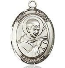 """Bliss Manufacturing Sterling Silver St. Robert Bellarmine Medal-Pendant With 20"""" Chain Necklace"""