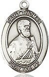 "Bliss Manufacturing SS THOMAS THE APOSTLE MEDAL W/ 20"" CH"