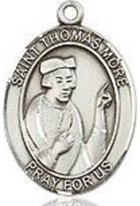 """Bliss Manufacturing Sterling Silver St. Thomas More Medal With 20"""" Chain"""