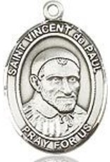 """Bliss Manufacturing Sterling Silver St. Vincent de Paul Medal With 20"""" Chain"""