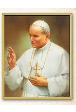 "8"" x 10"" Gold Framed Pope John Paul II Everlasting Plaque, Clear Lamination"