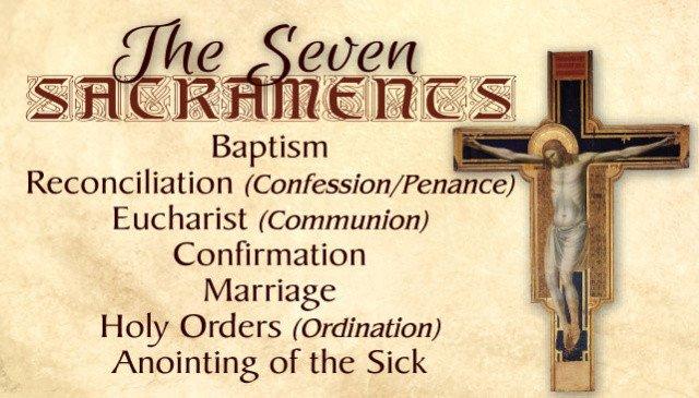 Catholic Prayer Cards Seven Sacraments/Seven Gifts of the Holy Spirit ...