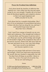 San Pedro Publishing Freedom From Addiction Prayer Cards