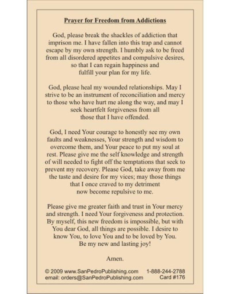 San Pedro Publishing Freedom From Addiction Prayer Cards
