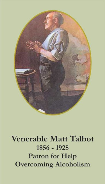 Venerable Matt Talbot Patron Against Alcoholism Prayer Card