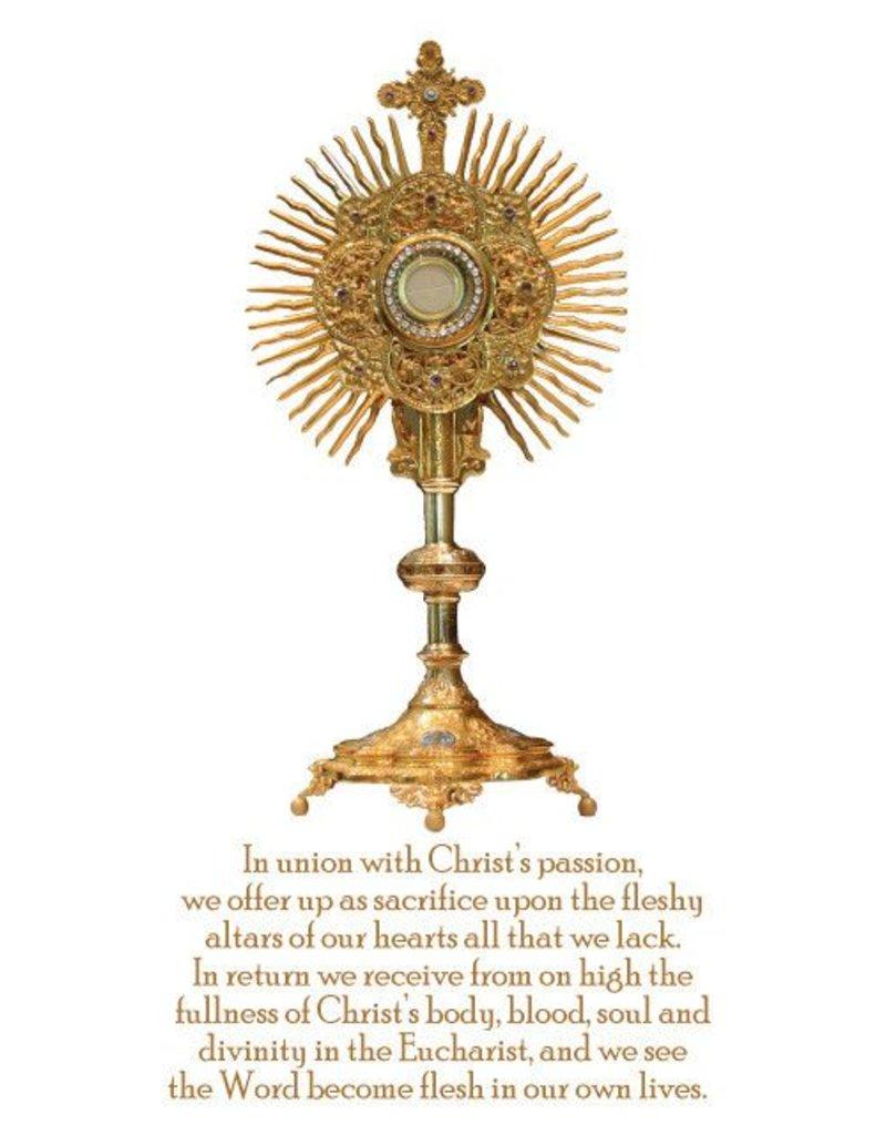 Eucharistic Adoration Prayer Card