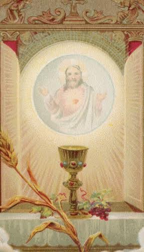 O Jesus Blessed Sacrament Prayer Card