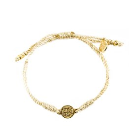 My Saint My Hero Breathe Blessing Bracelet Metallic - Gold Metallic