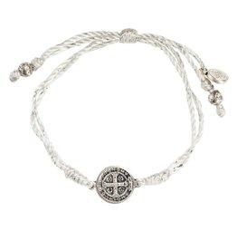 My Saint My Hero Serenity Blessing Bracelet - Metallic/Silver Medal - Silver
