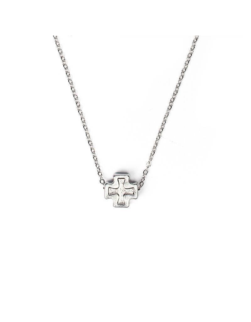 My Saint My Hero Faith Petite Necklace - Silver