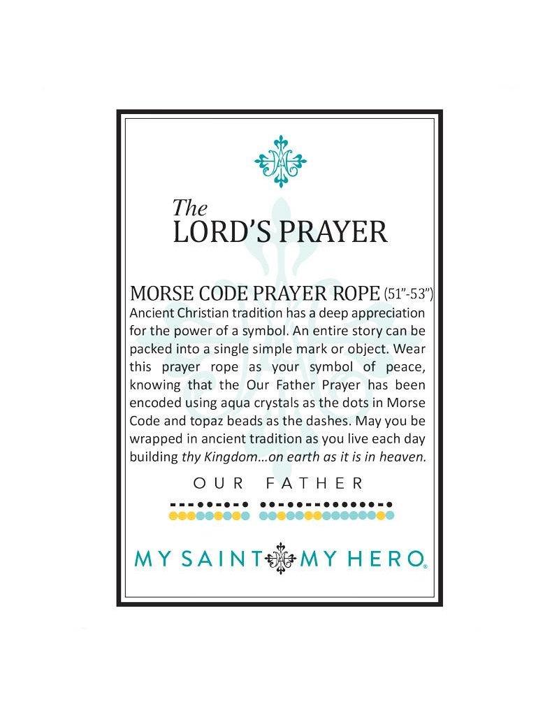 My Saint My Hero The Lord's Prayer Morse Code Prayer Morse Code Prayer Rope Gold