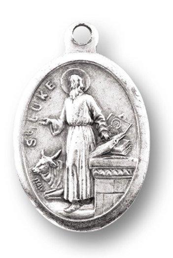 WJ Hirten St. Luke Oxidized Medal