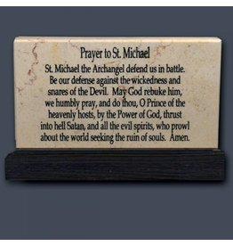 Holy Land Stone Prayer to St. Michael - Prayer Stone