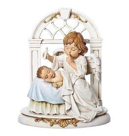 "Roman, Inc 8"" Angel with Sleeping Baby Statue"