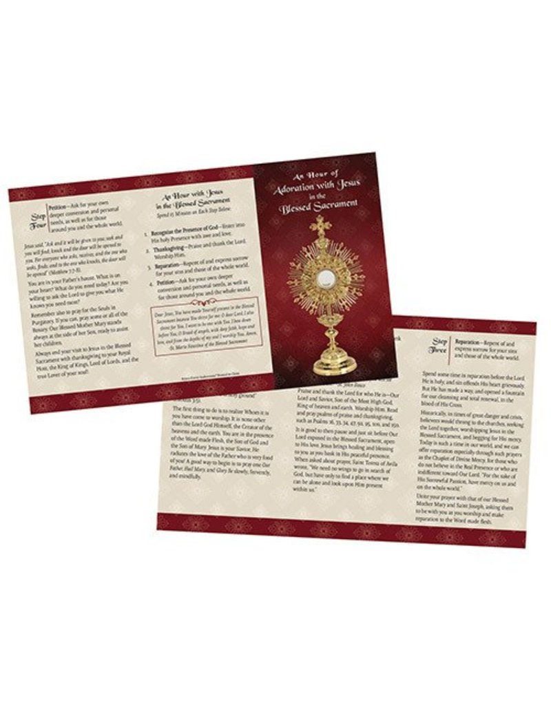 Ambrosiana An Hour of Adoration with Jesus in the Blessed Sacrament Trifold Card