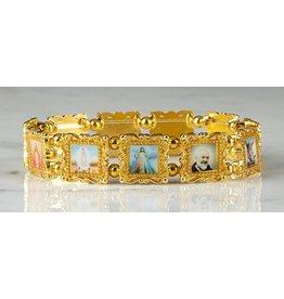 Christian Brands Gold Patron Saints Bracelet