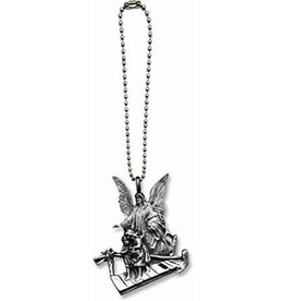 Cathedral Art Guardian Angel Ball Chain Car Charm