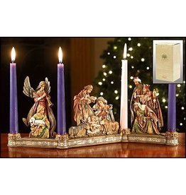 Christian Brands Nativity Candleholder