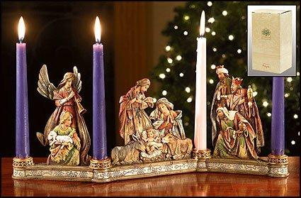 Christian Brands Nativity Candleholder
