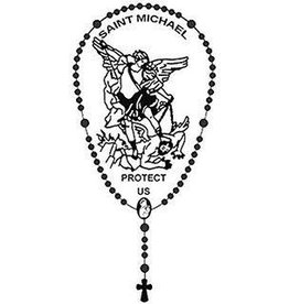 Wallace Brothers Manufacturing St. Michael Protect Us Window Cling
